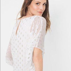 NWOT WHBM Cassy Foil Kimono Blouse Size S